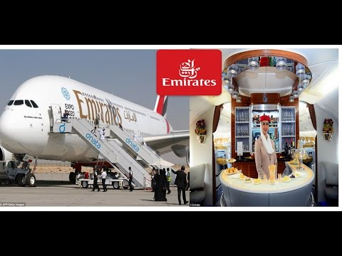 Emirates Airbus A380 Business Class Experience From Melbourne to Dubai Int Airport .