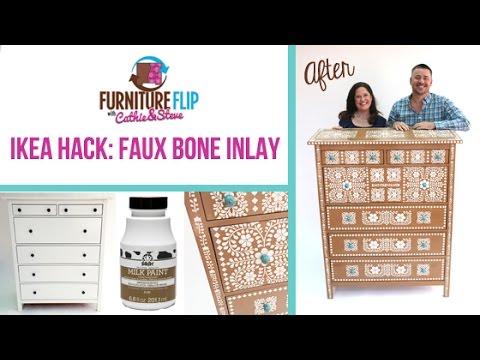 Furniture Flip Ikea Hack Edition Diy Faux Bone Inlay Dresser Knockoff You