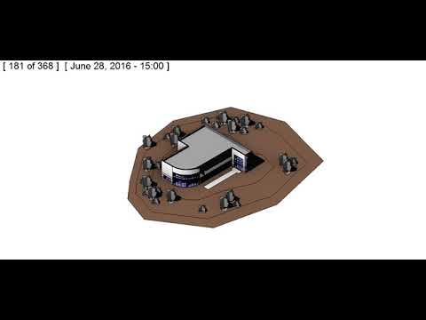 Revit solar study animation