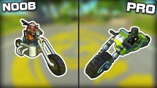 NOOB vs PRO Motorbike Race! (Scrap Mechanic Gameplay)