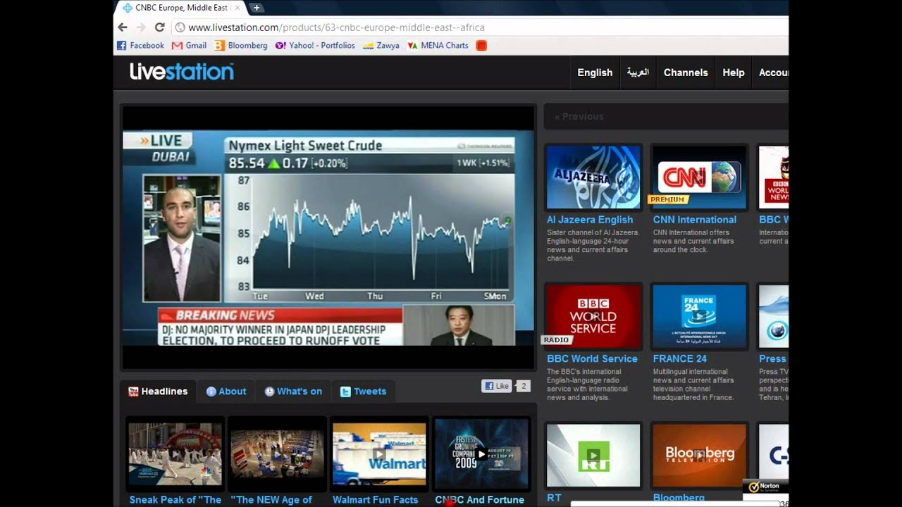 how to watch cnbc live tv free