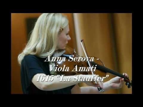 BOTTESINI. Rêverie. ANNA SEROVA - viola Amati 1615, JENNY BORGATTI - piano