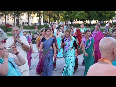 Chanting Holy Names of Krishna at King Tomislav Square in Zagreb, Croatia, July 2017