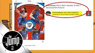 Steven Adams 'likes' Instagram comment throwing shade at Carmelo Anthony | The Jump | ESPN