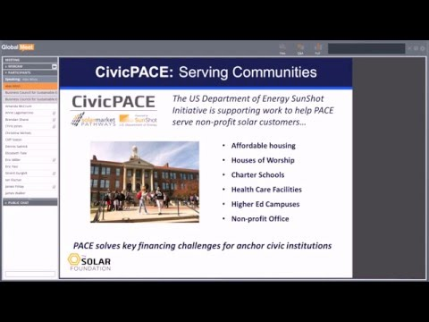 BCSE Webinar: CivicPACE an Opportunity for Sustainable Energy