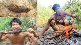 Primitive Technology Find food - STONE BAMBOO GET MOUSE