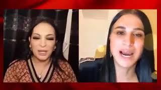 ريبيكا الجزائرية تقول لـ صوفيا طالوني علي المباشر  انها رجل ???? فضيييحة