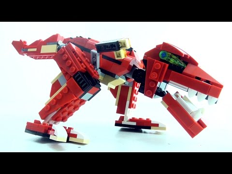 Tyrannosaurus Rex Bricks toy Roaring Power - Lego compatible Dinosaur set - Dinosaurs speed build
