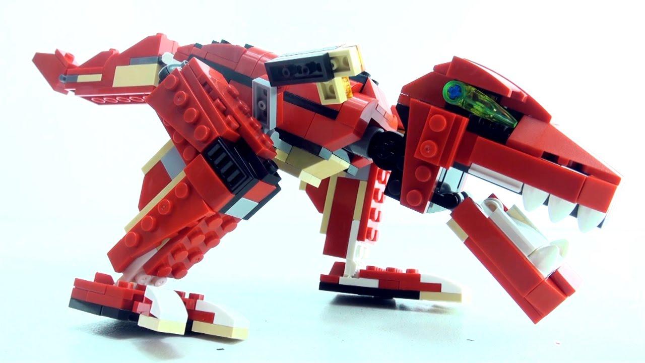Tyrannosaurus Rex Bricks toy Roaring Power - Lego compatible Dinosaur set -  Dinosaurs speed build