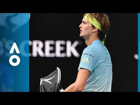 Alexander Zverev obliterates his racquet  Australian Open 2018
