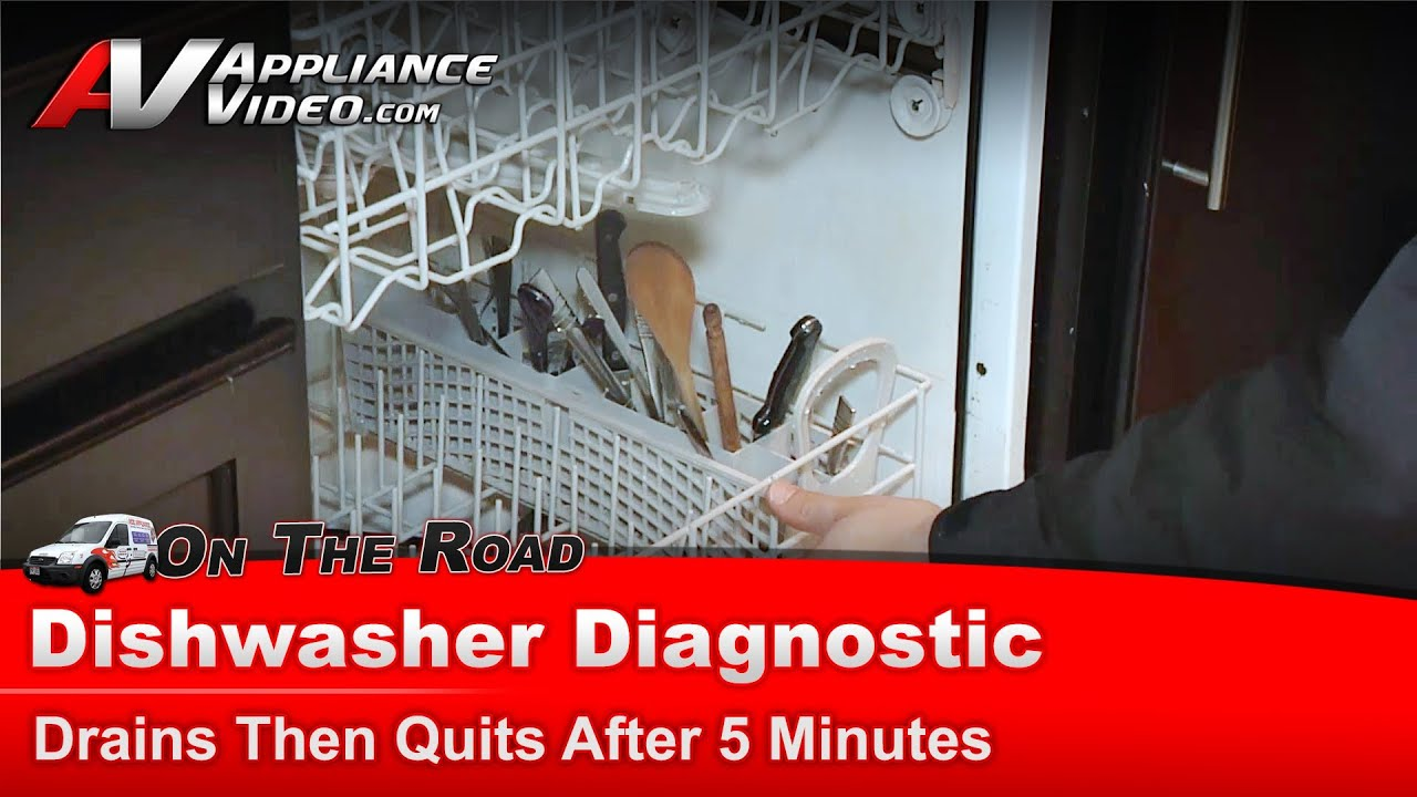Whirlpool Dishwasher Diagnostic - Drains and stops mid cycle - DU1010XTXB2
