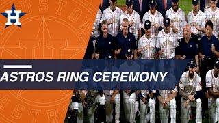 Astros World Series championship ring ceremony