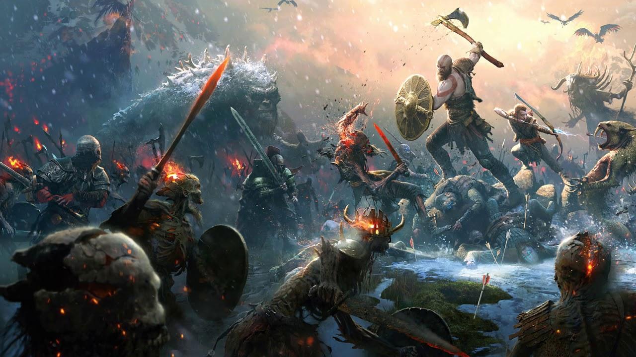 Desktop Wallpaper 2018 Video Game Fortnite Art Hd: Valkyries (God Of War Soundtrack)
