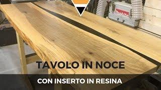Tavolo In Noce E Resina Epossidica 1di2 Youtube