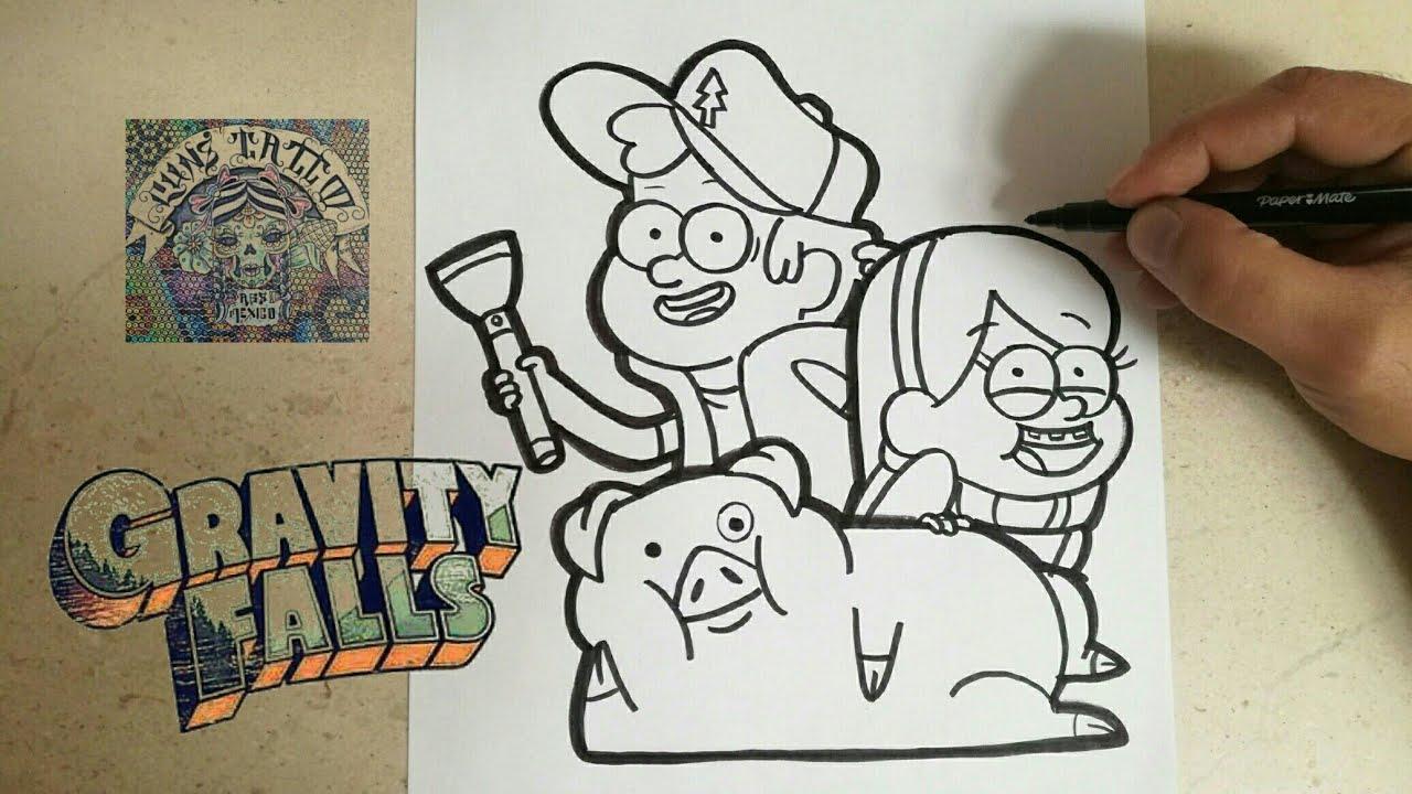 Pato Gravity Falls Para Colorear: Como Dibujar Pato De Gravity Falls Kawaii Paso A Paso Dibujos