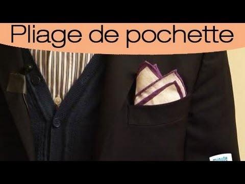 Comment faire un pli bouffant avec une pochette de costume youtube - Comment porter une pochette ...