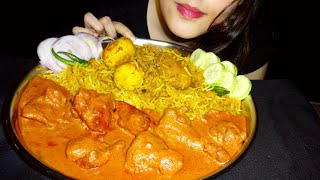 Eating Egg Biriyani || Chicken Tikka Butter Masala || ASMR || Eating Show || Homemade || No Talking