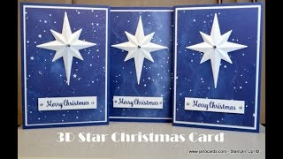 No.442 - 3D Star Christmas Card - JanB UK #7 Top Stampin' Up! Independent Demonstrator