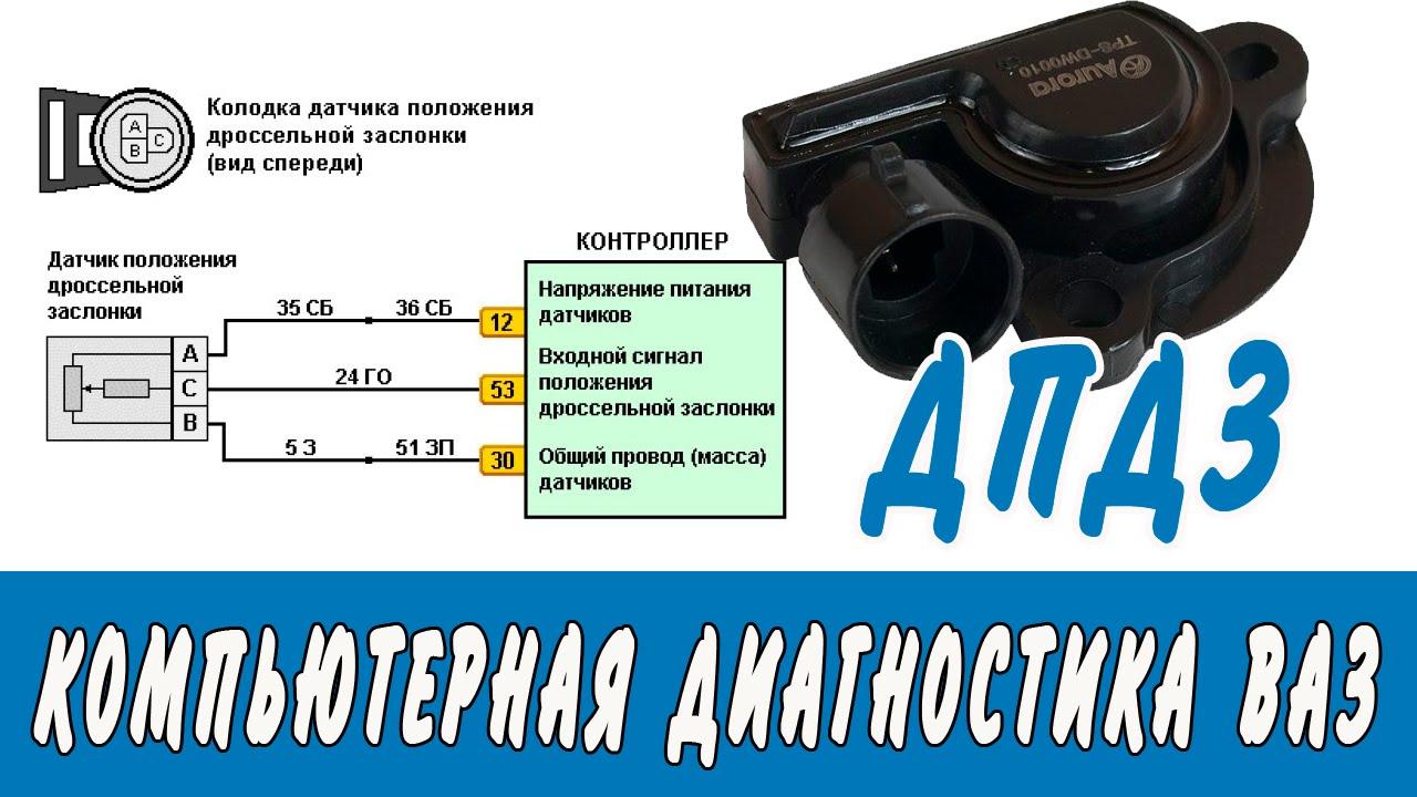 Датчик положения дроссельной заслонки схема фото 632