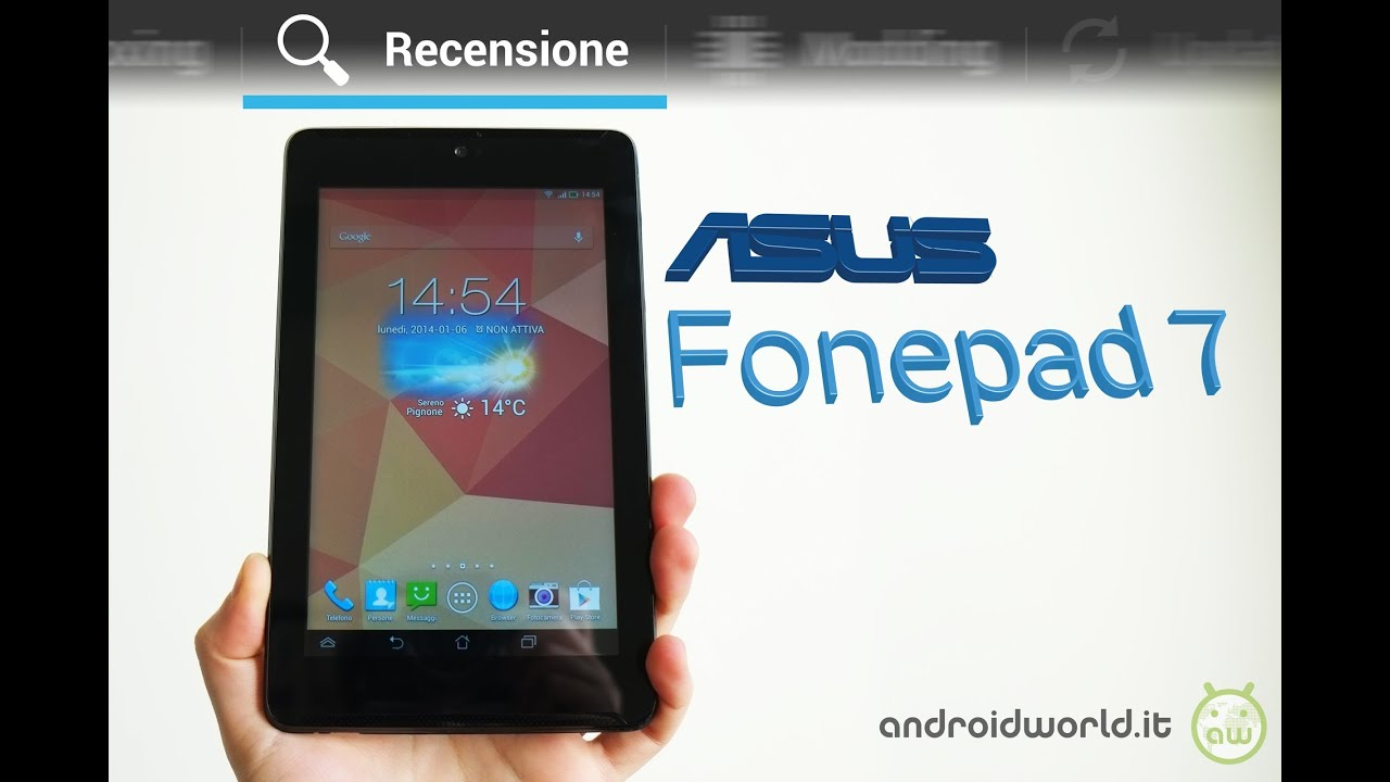 ASUS Fonepad 7, recensione in italiano by AndroidWorld.it ...