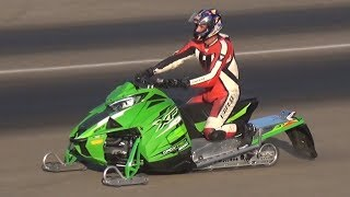 TURBO Snowmobile Drag Race on 1/4 Mile! - It Would Destroy Most of the Supercars Out There!