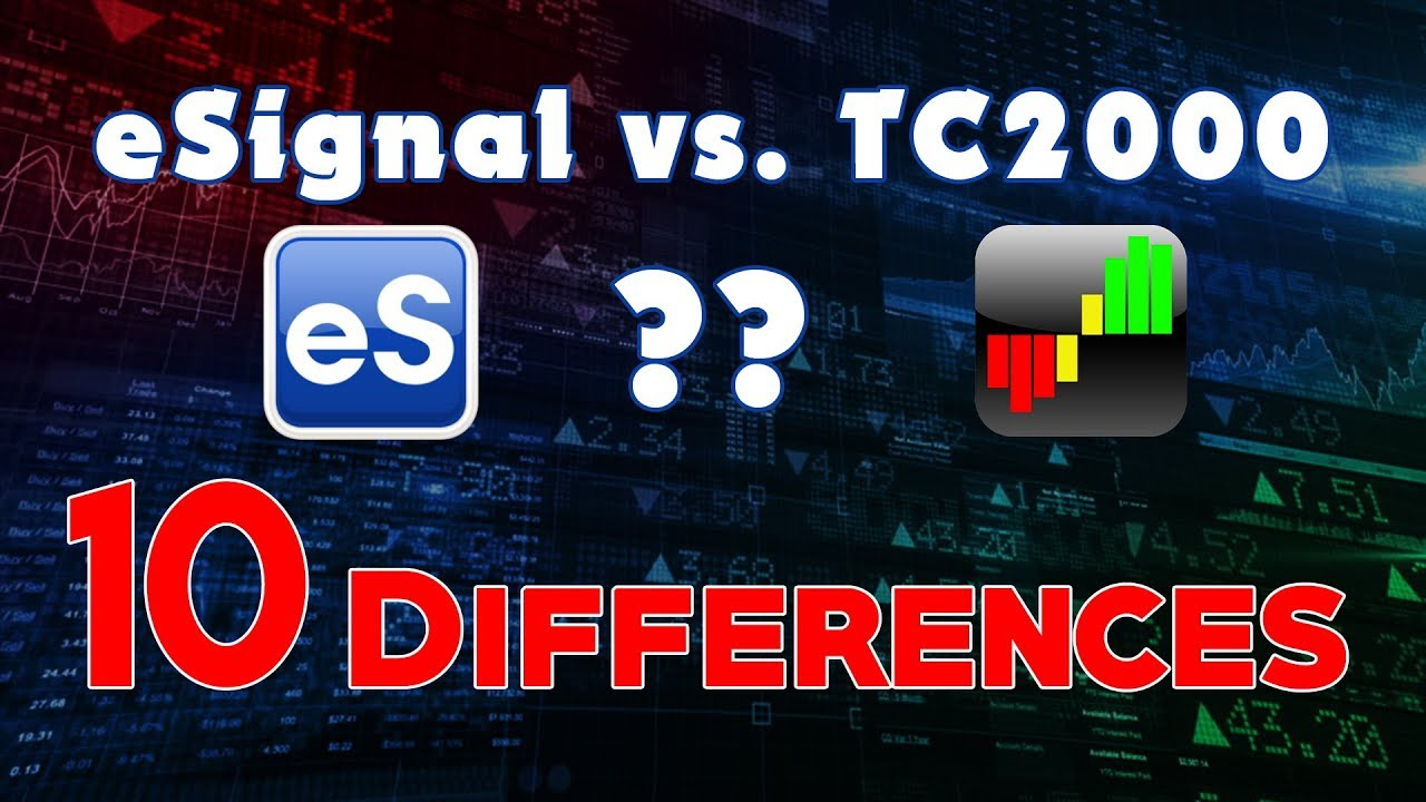 eSignal vs  TC2000 | 10 Differences