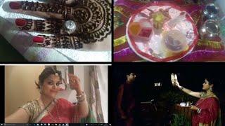 Karwachauth celebration vlog 2017 -mehndi,make up,puja !! A day in my life💅💄👩💑