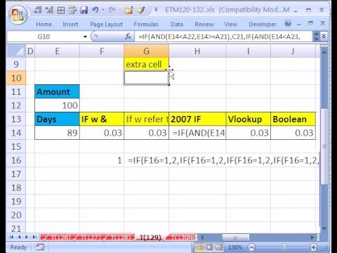 Excel Magic Trick #129: More than 7 Nested IF functions