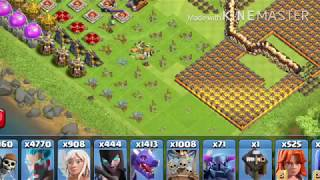 Clash of clans sample VS Clash of clans Hack on smart phone-Hack 1000% 2018