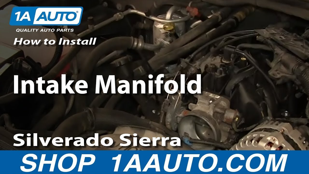 how to replace intake manifold 99 06 chevy silverado youtube 1999 chevy tahoe intake manifold diagram [ 1280 x 720 Pixel ]