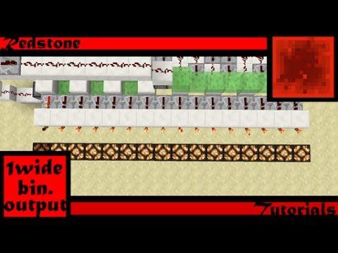One-Wide Binary-Decoder Output Showcase/World Download (Minecraft 1.11+)