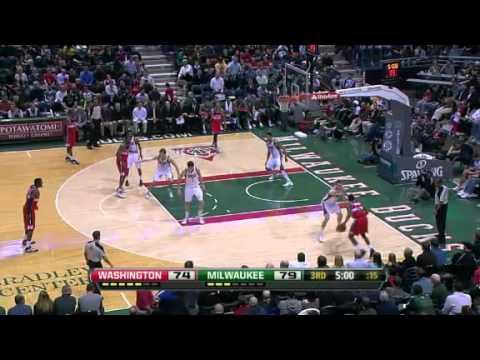 NBA Washington Wizards Vs Milwaukee Bucks Highlights Feb 28, 2012 Game Recap