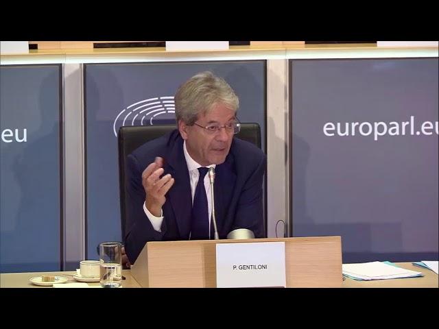 Audiencia del Comisario propuesto italiano,  Paolo Gentiloni