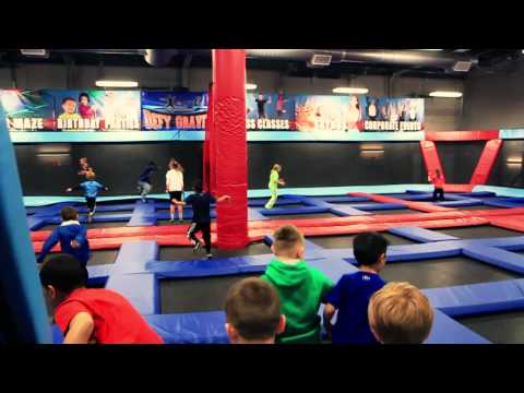 Defy Gravity indoor trampoline park in Omaha.  Made by Blue Print Advertising Agency in Omaha