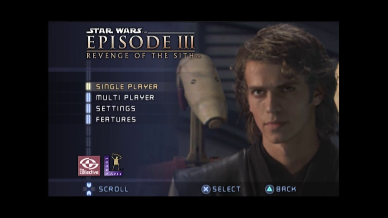 Star Wars Episode Iii Revenge Of The Sith Ps2 Xbox Main Menu Youtube