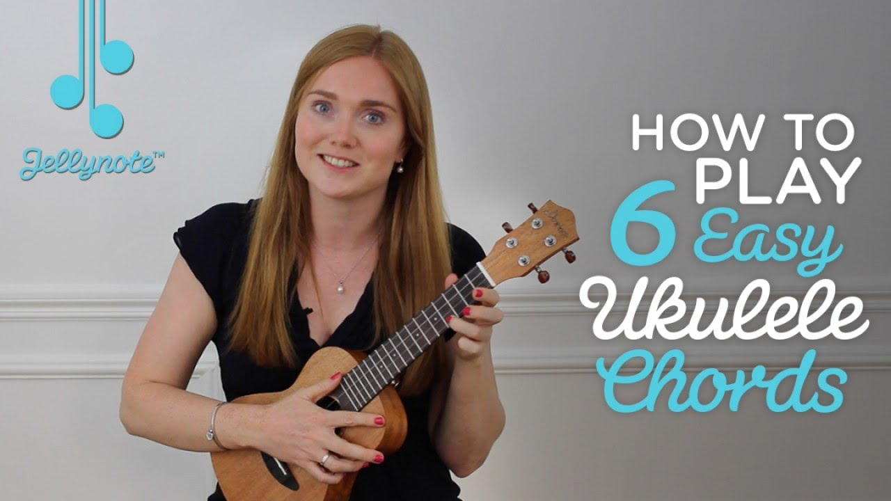 How to play 6 easy ukulele chords (Easy Jellynote Tutorial) - YouTube