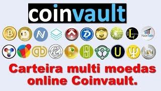 Carteira multi moedas online Coinvault.
