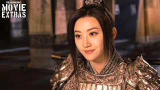 The great wall | on-set visit with jing tian 'commander lin mae'