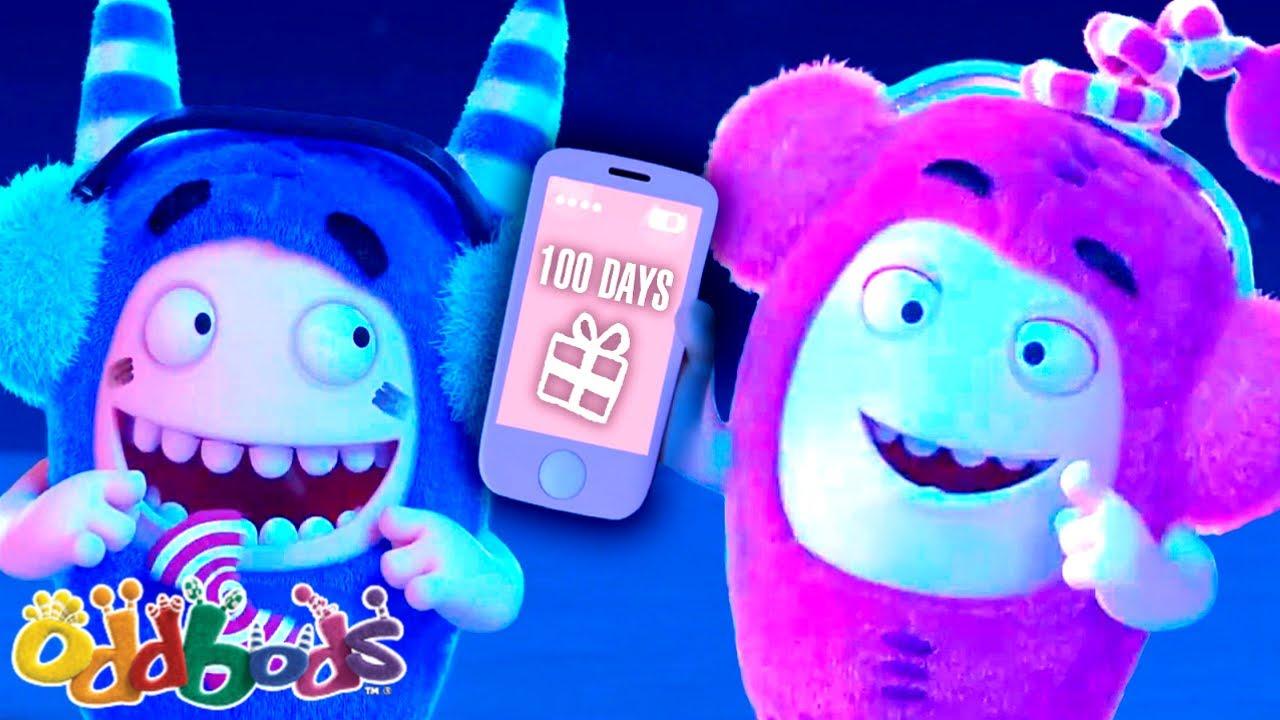 छुट्टियों की 100 दिनों की उलटी गिनती | Oddbods | नया | बच्चों के लिए मज़ेदार कार्टून