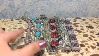 Мои украшения с натуральными камнями своими руками  (браслеты)