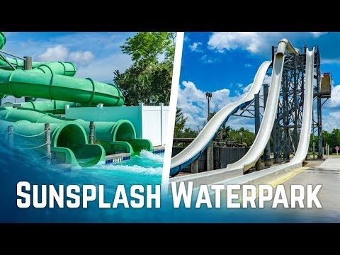 ALL BIG WATERSLIDES at Sunsplash Family Waterpark in Cape Coral, Florida!