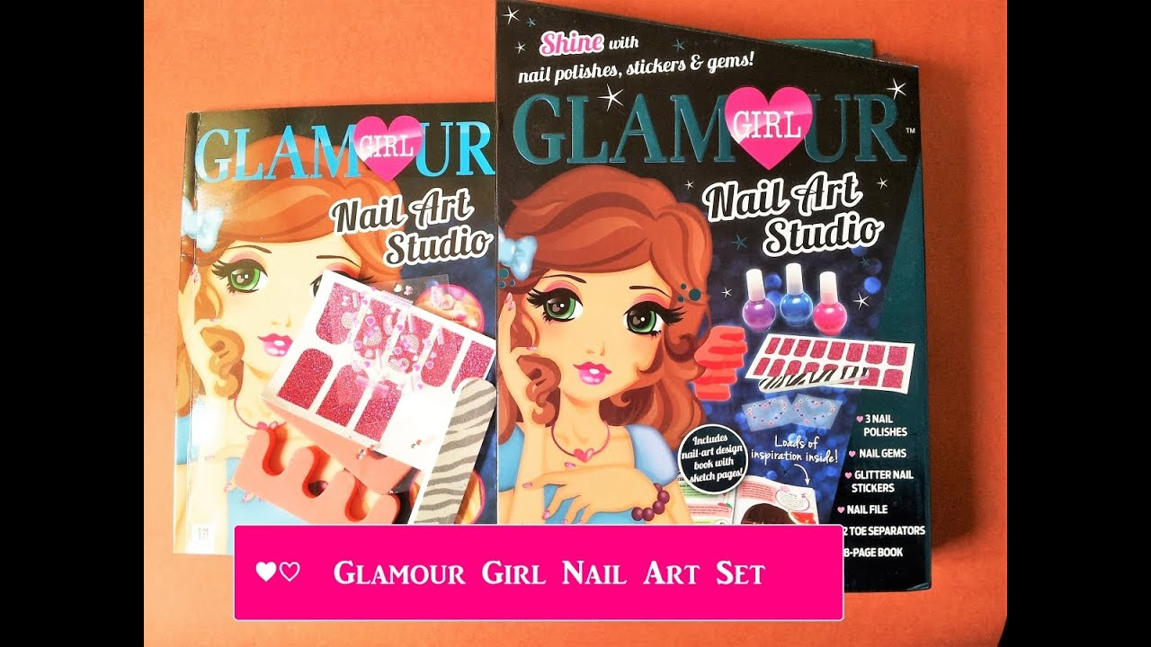 Glamour Girl Nail Art Set With Design Book