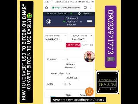 HOW TO CONVERT USD TO BITCOIN & BITCOIN TO USD ON BINARY.COM