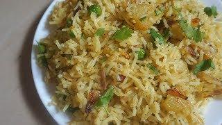 Instant rice recipes - for lunch box | 5 minute rice recipes - Potato Rice Recipe