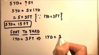 HOW TO CONVERT YARD TO FEET(Yd-Ft) AND FEET TO YARD(Ft-Yd)