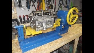 видео Стенд для ремонта головок блоков цилиндров, рассухаривание клапанов