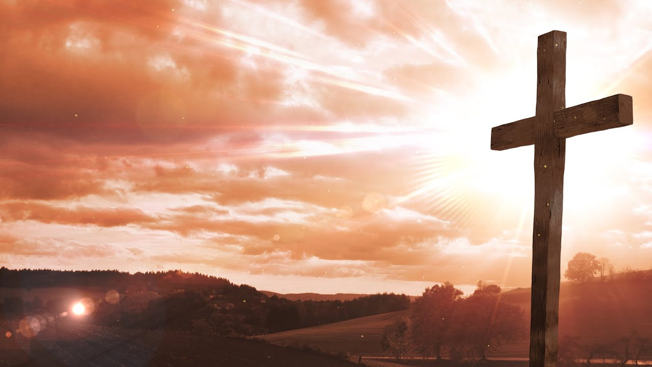 easter cross worship background loop motion graphics