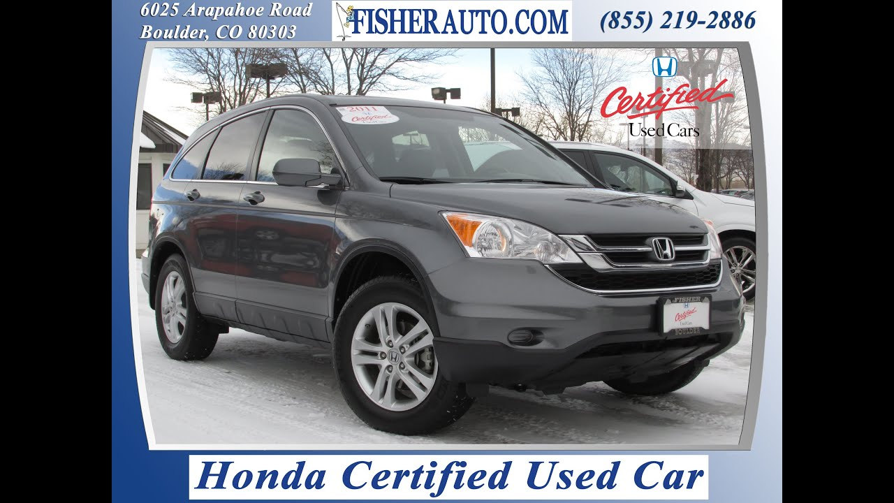 Honda certified 2011 honda crv exl gray 22 900 denver for Gray honda crv