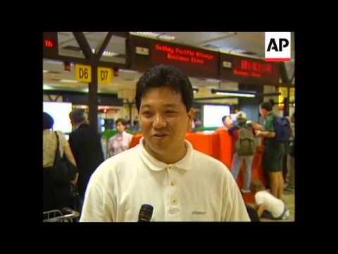 HONG KONG: KAI TAK AIRPORT CLOSES