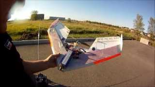 Mini wing fpv flight and Helical antenna test